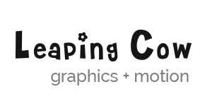 leaping cow graphic design